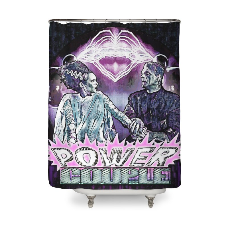 Power Couple- Version 2 Home Shower Curtain by Jason Henricks' Artist Shop