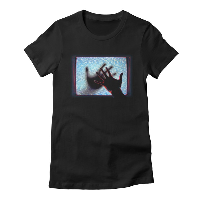 Static Women's Fitted T-Shirt by Jason Henricks' Artist Shop