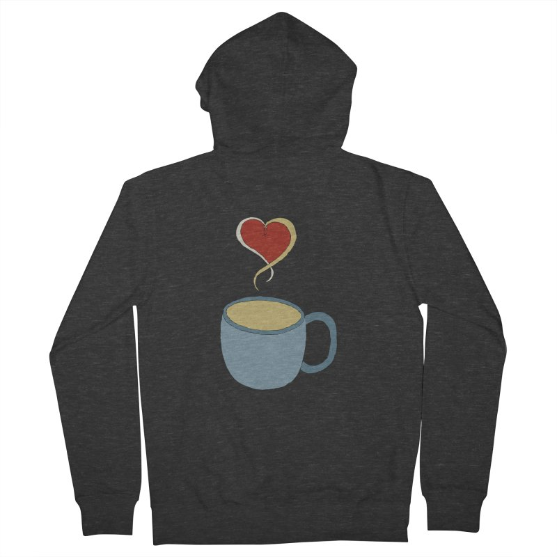 Coffee Love Men's Zip-Up Hoody by JiggyTheGeek's Artist Shop