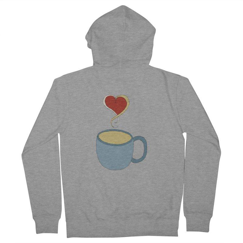 Coffee Love Men's Zip-Up Hoody by JiggyTheGeek's Artist Shop
