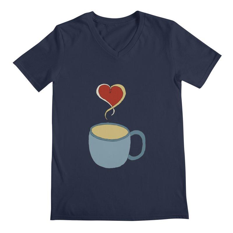 Coffee Love Men's V-Neck by JiggyTheGeek's Artist Shop