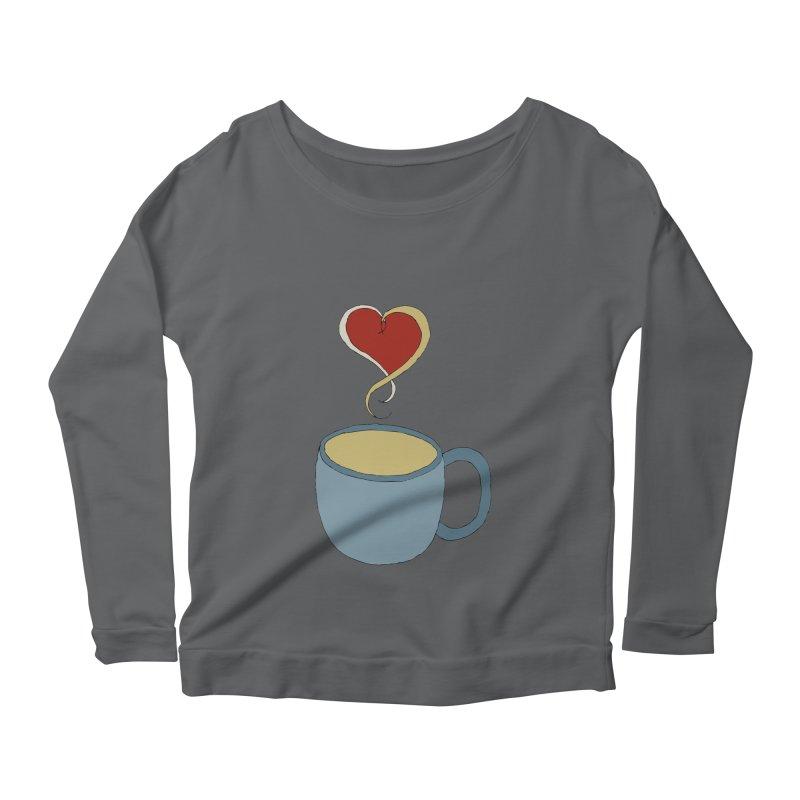 Coffee Love Women's Longsleeve Scoopneck  by JiggyTheGeek's Artist Shop