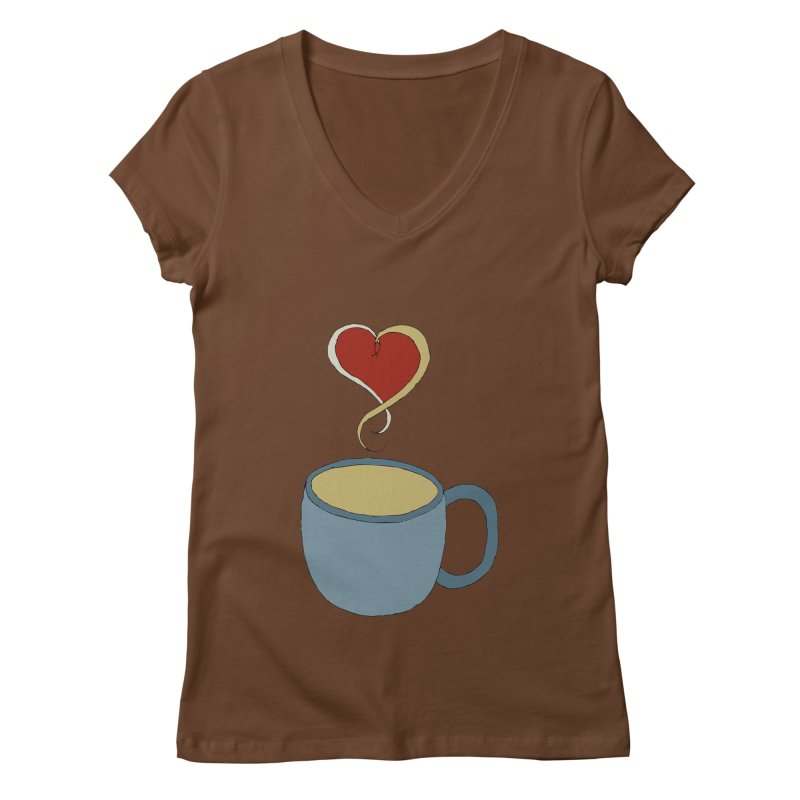Coffee Love Women's V-Neck by JiggyTheGeek's Artist Shop