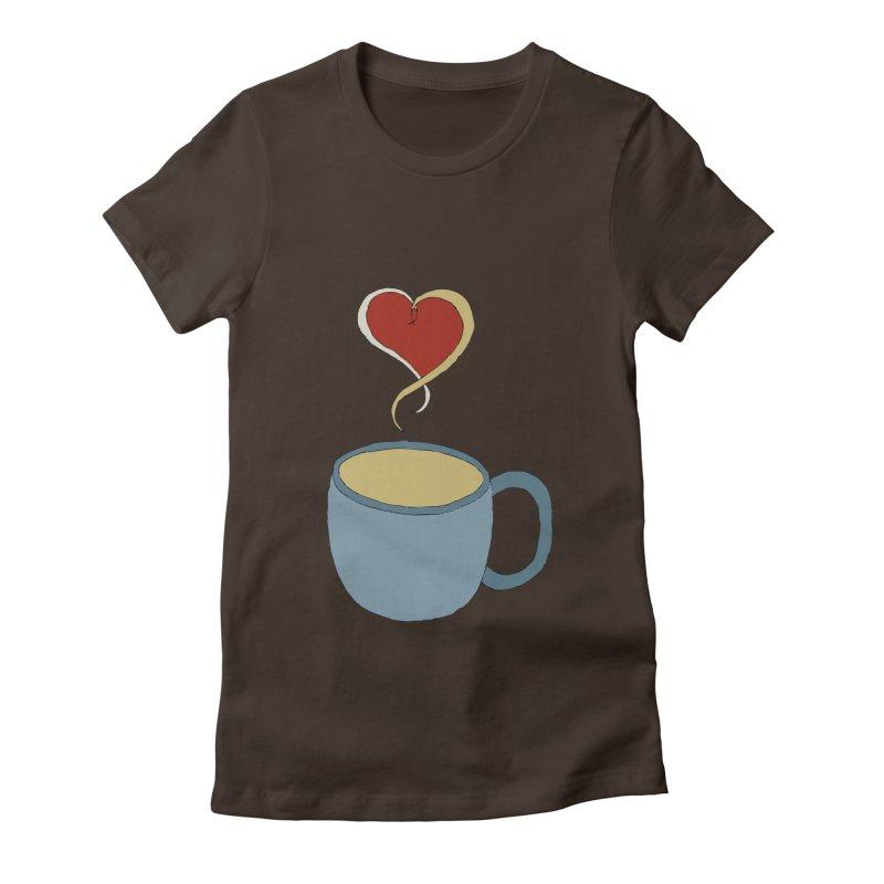 Coffee Love Women's Fitted T-Shirt by JiggyTheGeek's Artist Shop