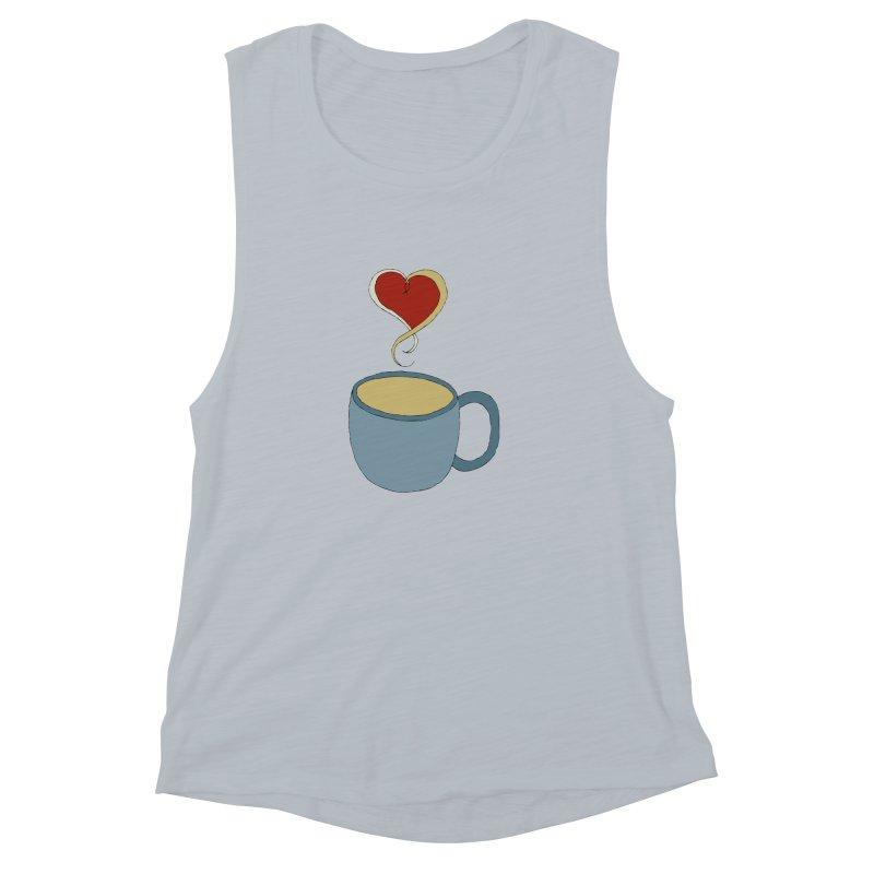 Coffee Love Women's Muscle Tank by JiggyTheGeek's Artist Shop