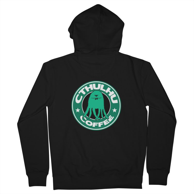 Cthulhu Coffee Men's Zip-Up Hoody by JiggyTheGeek's Artist Shop