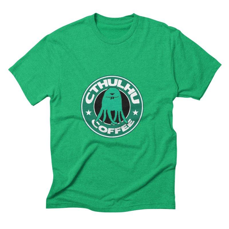 Cthulhu Coffee Men's Triblend T-shirt by JiggyTheGeek's Artist Shop