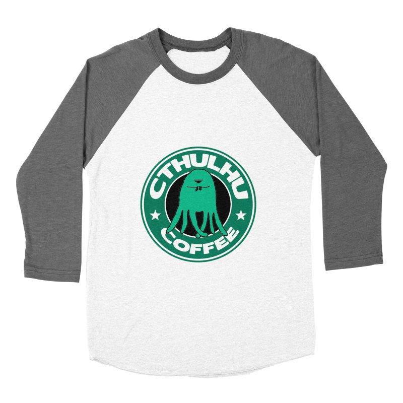 Cthulhu Coffee Women's Baseball Triblend T-Shirt by JiggyTheGeek's Artist Shop