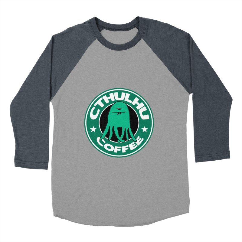 Cthulhu Coffee Women's Baseball Triblend T-Shirt by JiggyTheGeek's Artist Shop