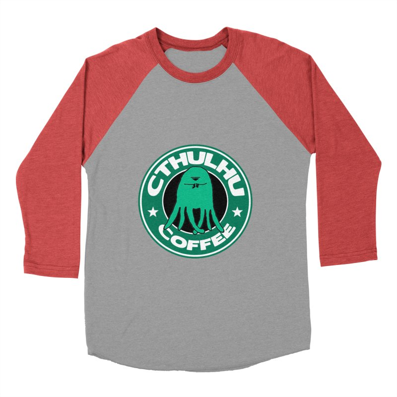 Cthulhu Coffee Men's Baseball Triblend T-Shirt by JiggyTheGeek's Artist Shop
