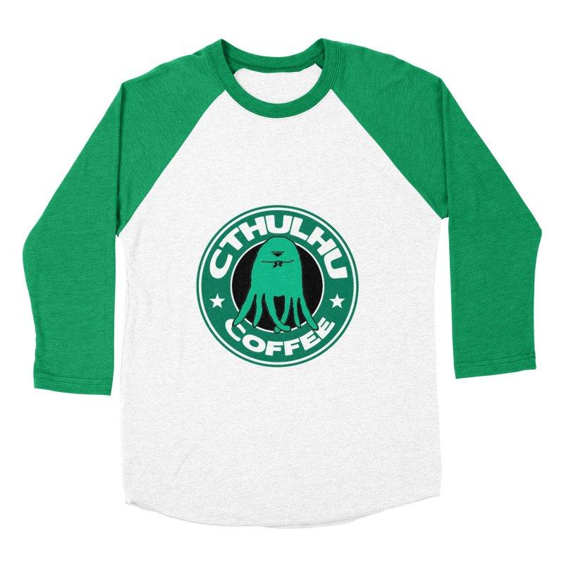 Cthulhu Coffee Men's Baseball Triblend T-Shirt by JiggyTheGeek's Artist Shop