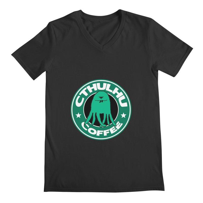 Cthulhu Coffee Men's V-Neck by JiggyTheGeek's Artist Shop