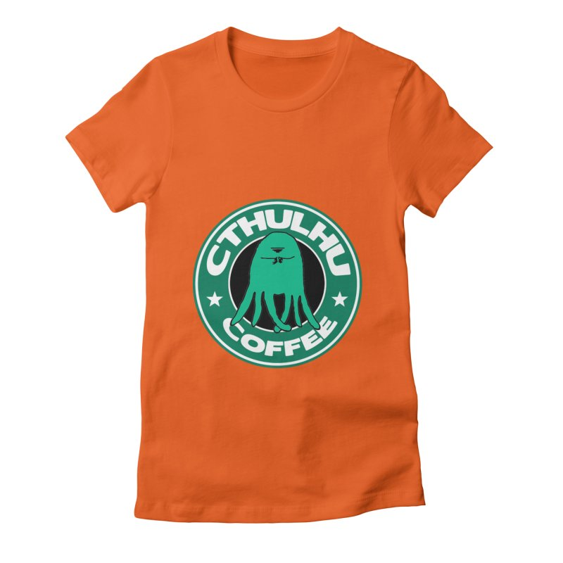 Cthulhu Coffee Women's Fitted T-Shirt by JiggyTheGeek's Artist Shop