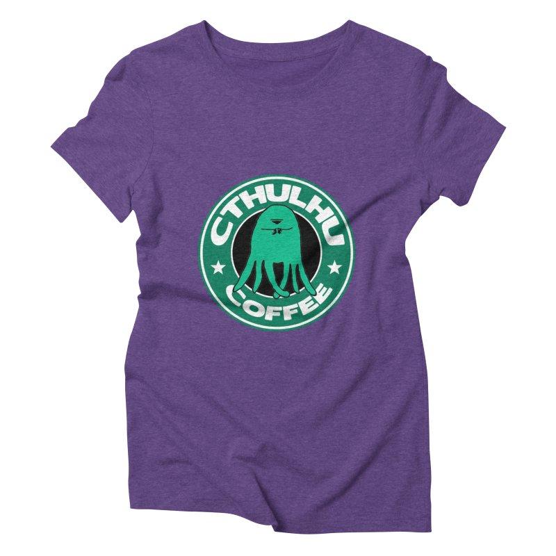 Cthulhu Coffee Women's Triblend T-Shirt by JiggyTheGeek's Artist Shop