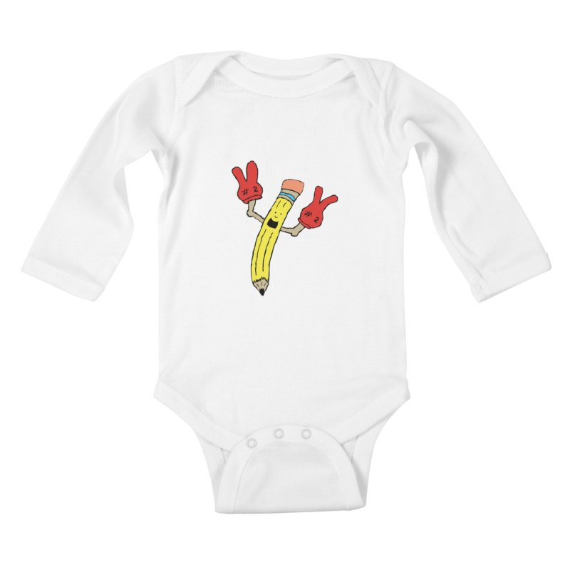Proud to be Number Two Kids Baby Longsleeve Bodysuit by JiggyTheGeek's Artist Shop