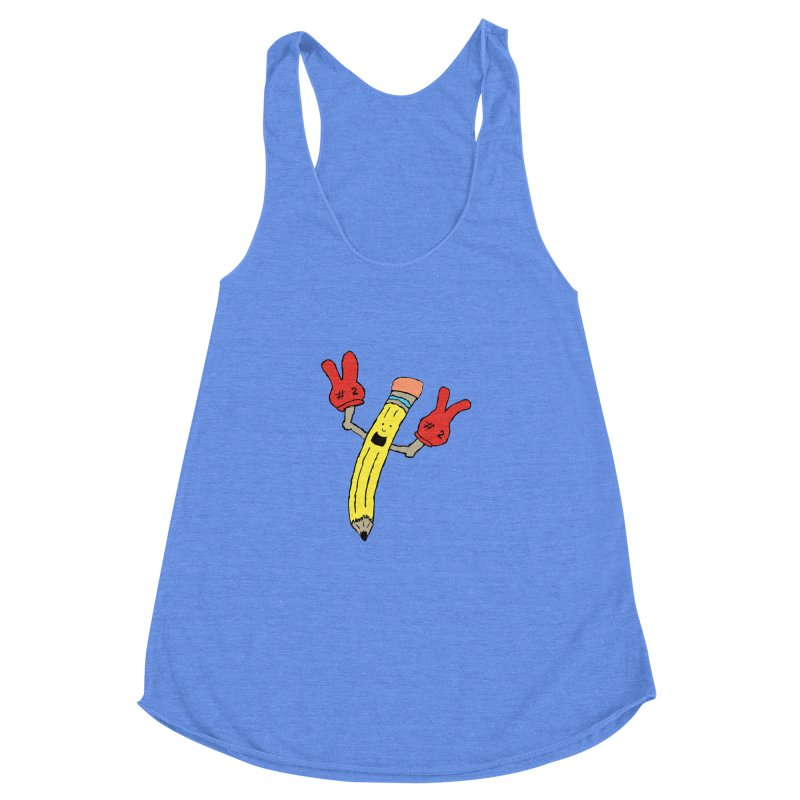 Proud to be Number Two Women's Racerback Triblend Tank by JiggyTheGeek's Artist Shop