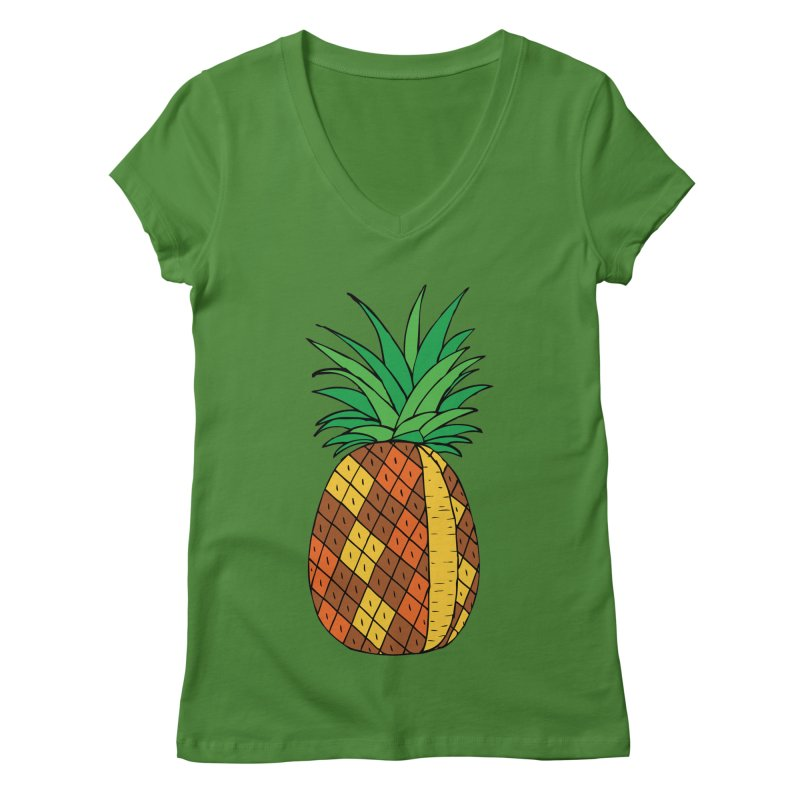 Fashionable Fruit Women's V-Neck by JiggyTheGeek's Artist Shop