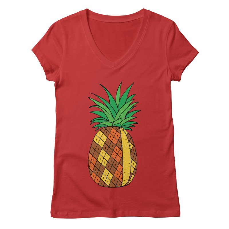 Fashionable Fruit Women's V-Neck by JiggyTheGeek's Artist Shop
