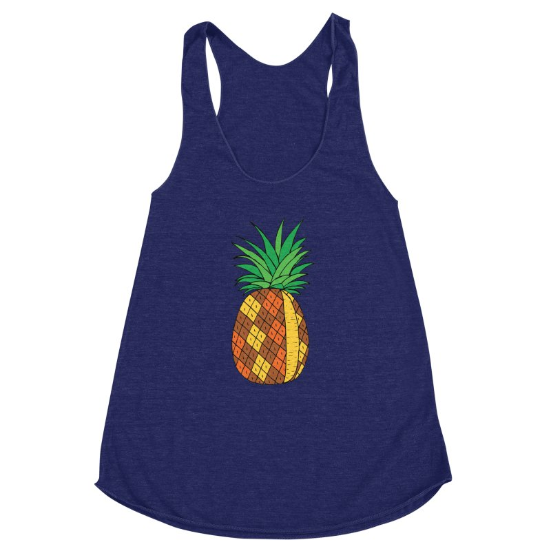 Fashionable Fruit Women's Racerback Triblend Tank by JiggyTheGeek's Artist Shop