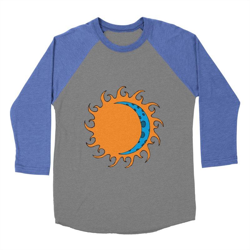 Sun & Moon Women's Baseball Triblend T-Shirt by JiggyTheGeek's Artist Shop