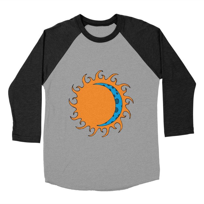 Sun & Moon Men's Baseball Triblend T-Shirt by JiggyTheGeek's Artist Shop