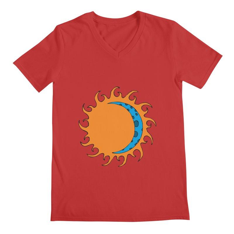 Sun & Moon Men's V-Neck by JiggyTheGeek's Artist Shop