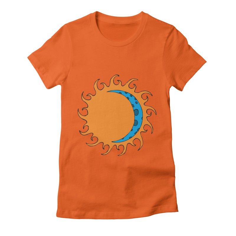 Sun & Moon Women's Fitted T-Shirt by JiggyTheGeek's Artist Shop