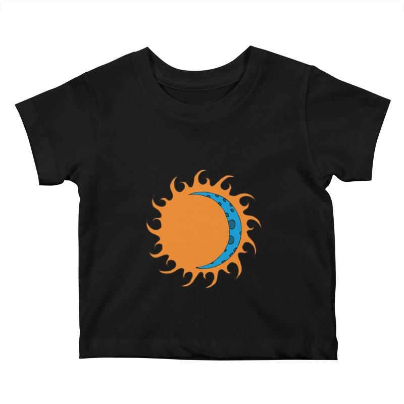 Sun & Moon Kids Baby T-Shirt by JiggyTheGeek's Artist Shop