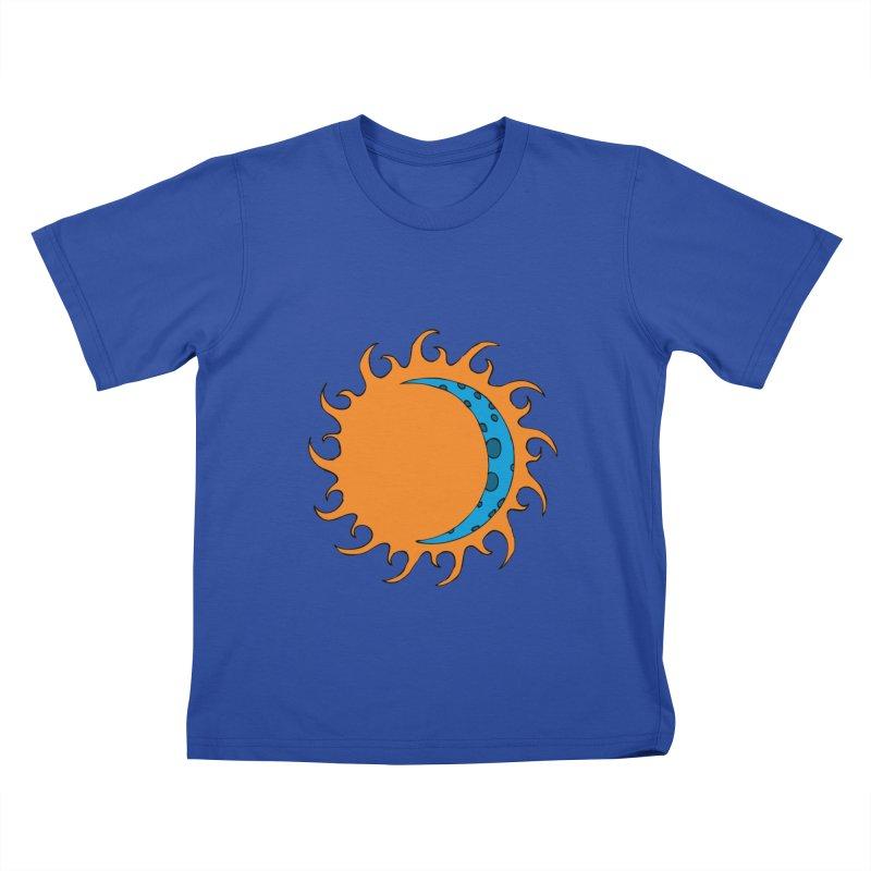 Sun & Moon Kids T-Shirt by JiggyTheGeek's Artist Shop