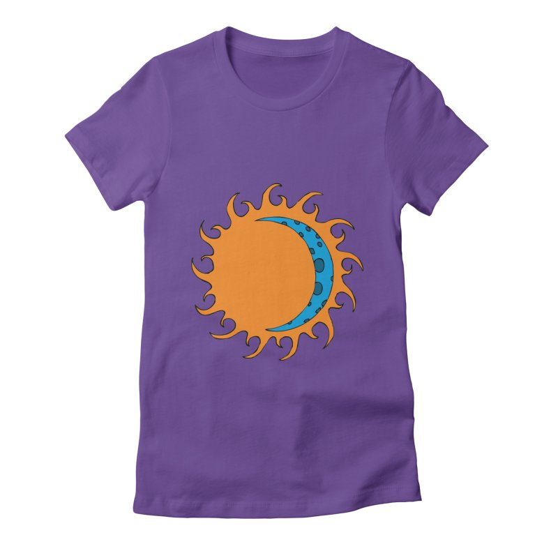 Sun & Moon Women's Fitted T-Shirt by JiggyTheGeek's Artist Shop