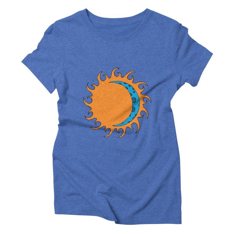 Sun & Moon Women's Triblend T-Shirt by JiggyTheGeek's Artist Shop