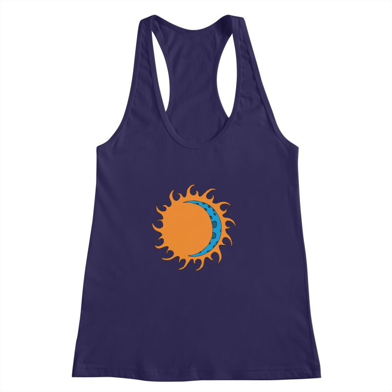 Sun & Moon Women's Racerback Tank by JiggyTheGeek's Artist Shop