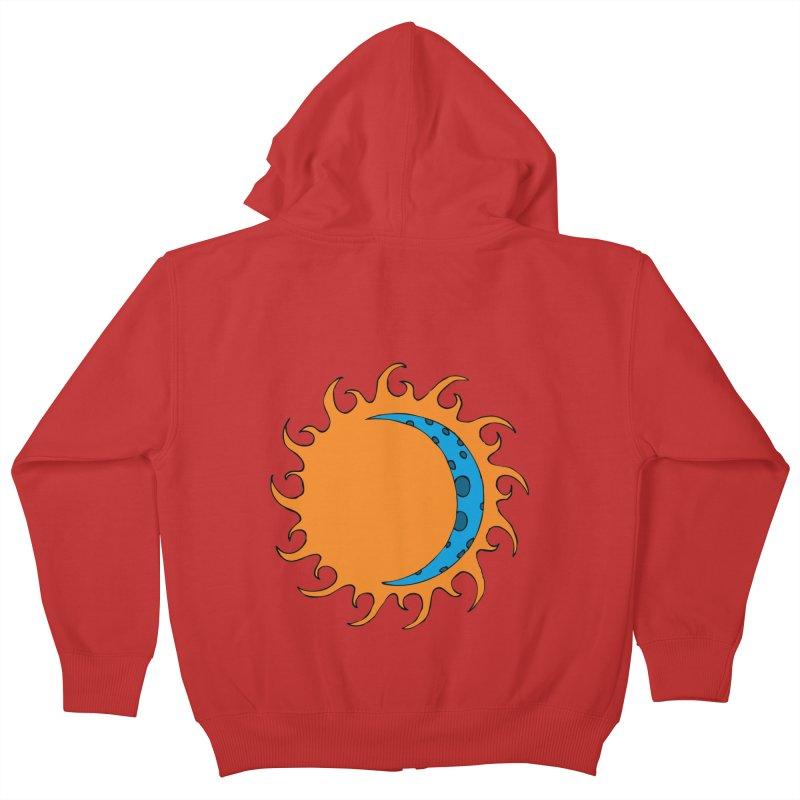 Sun & Moon Kids Zip-Up Hoody by JiggyTheGeek's Artist Shop