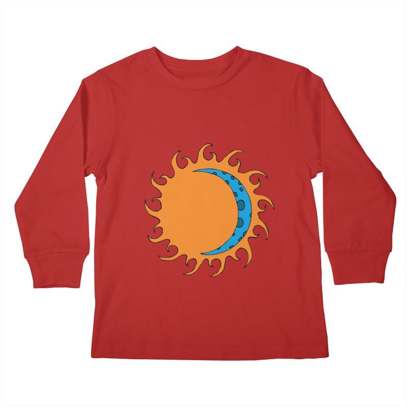 Sun & Moon Kids Longsleeve T-Shirt by JiggyTheGeek's Artist Shop
