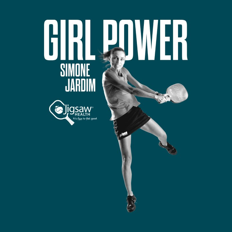 GIRL POWER - Simone Jardim (White Text) Women's T-Shirt by Jigsaw Swag designed by Jigsaw Health