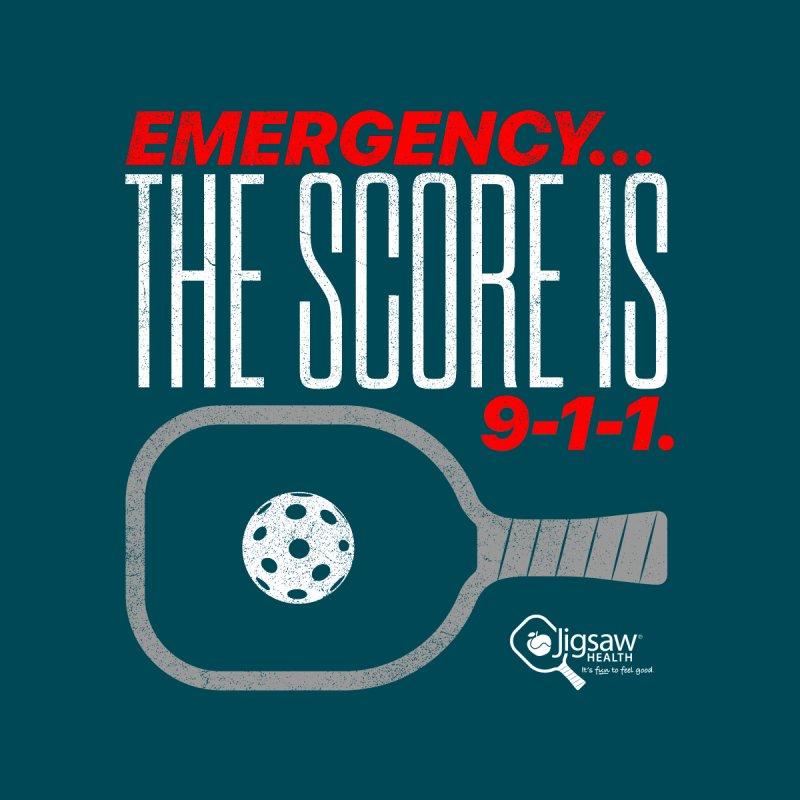 Emergency... The Score Is 9-1-1. Women's T-Shirt by Jigsaw Swag designed by Jigsaw Health