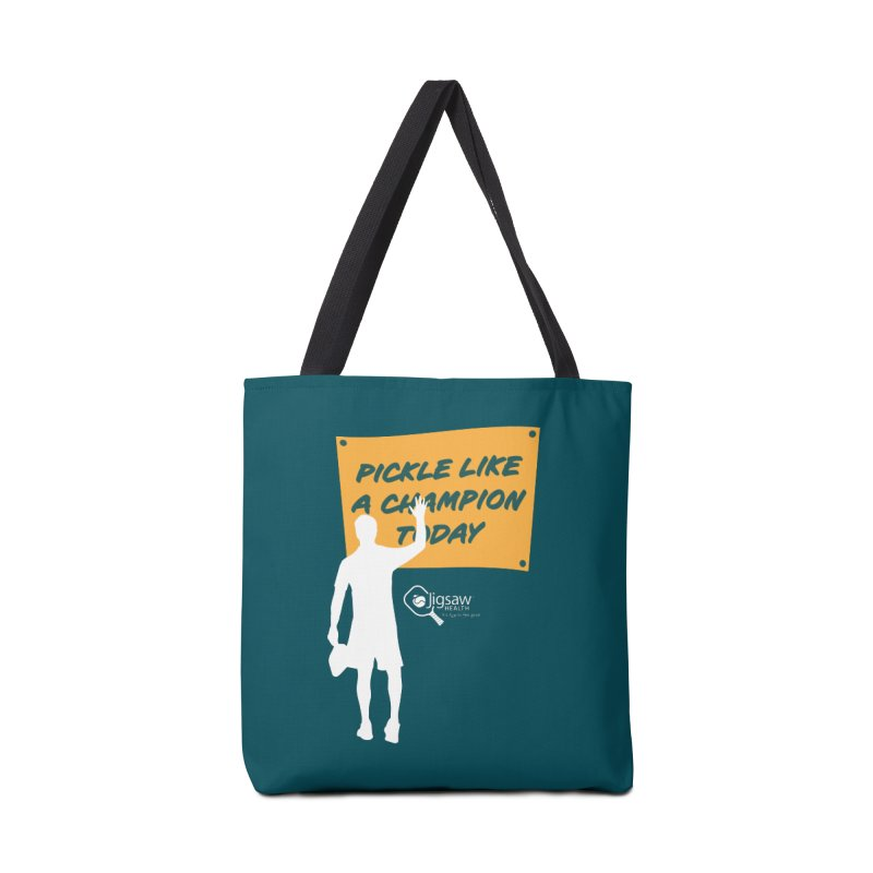 Pickle Like a Champion Today Accessories Bag by Jigsaw Swag designed by Jigsaw Health