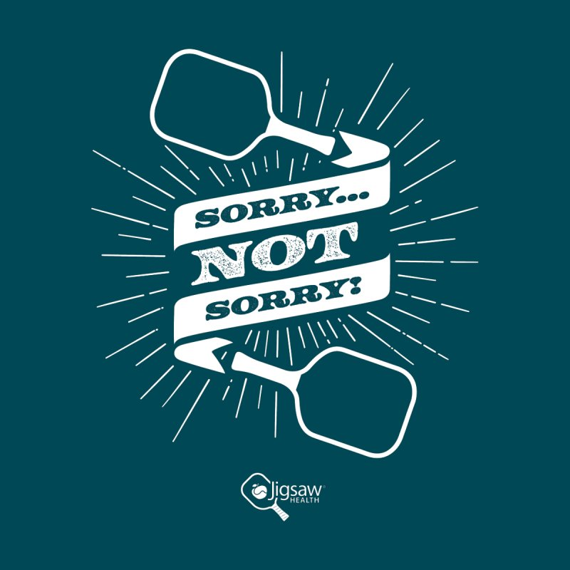 Sorry... Not Sorry! Accessories Sticker by Jigsaw Swag designed by Jigsaw Health