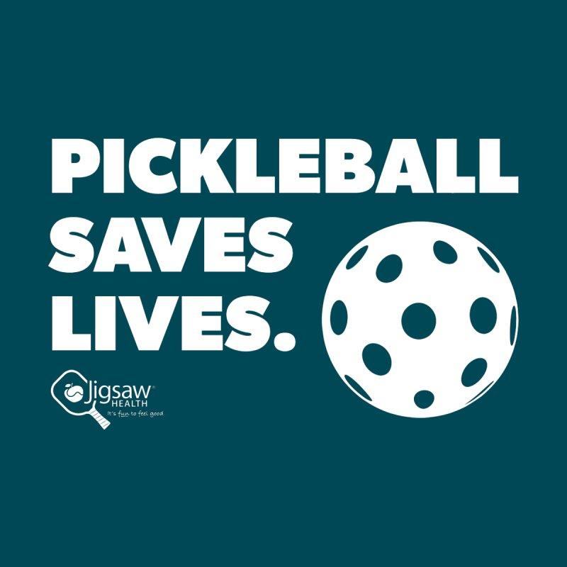 Pickleball Saves Lives. Women's V-Neck by Jigsaw Swag designed by Jigsaw Health