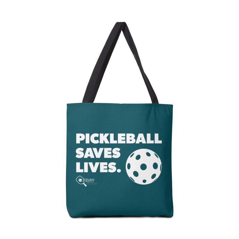 Pickleball Saves Lives. Accessories Bag by Jigsaw Swag designed by Jigsaw Health