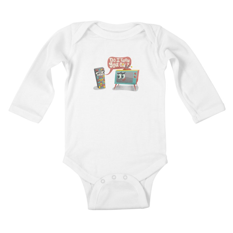 Do I Turn You On? Kids Baby Longsleeve Bodysuit by JILL MARS