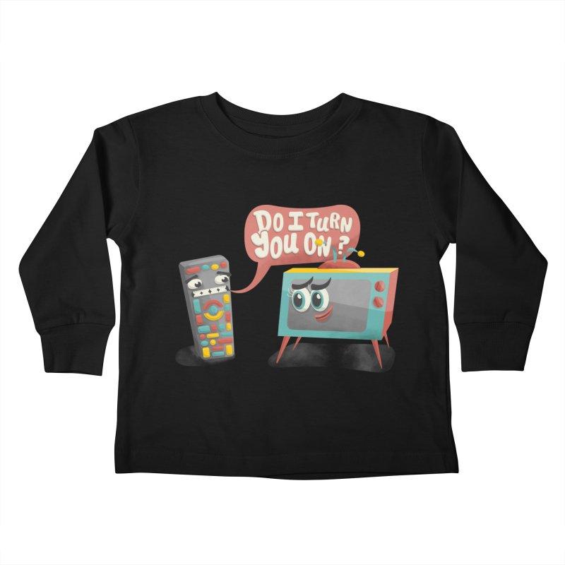 Do I Turn You On? Kids Toddler Longsleeve T-Shirt by JILL MARS