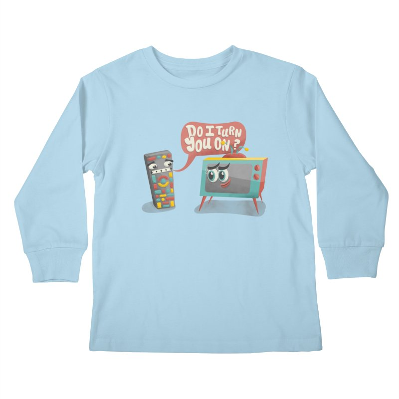 Do I Turn You On? Kids Longsleeve T-Shirt by JILL MARS