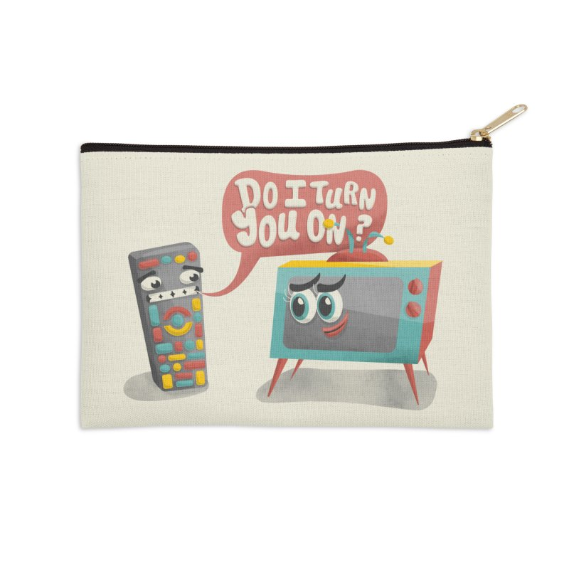 Do I Turn You On? Accessories Zip Pouch by JILL MARS