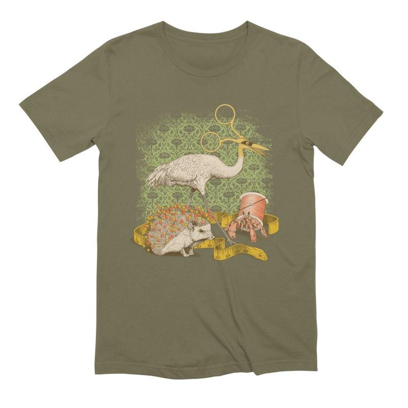 Alice's Sewing Basket - Green Variant Men's T-Shirt by jillustration's Artist Shop