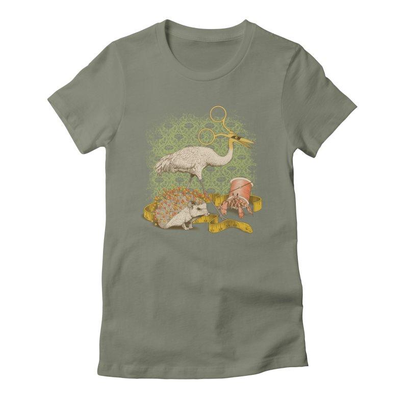 Alice's Sewing Basket - Green Variant Women's T-Shirt by jillustration's Artist Shop