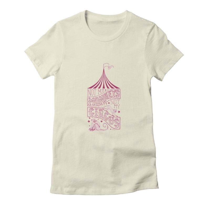 Not My Monkeys Women's T-Shirt by jillustration's Artist Shop