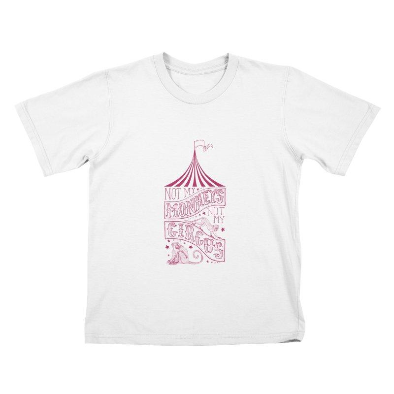 Not My Monkeys Kids T-shirt by jillustration's Artist Shop