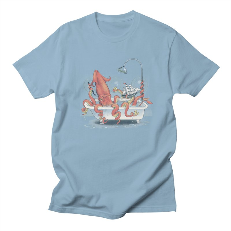 Kraken Bath Time Men's T-Shirt by jillustration's Artist Shop