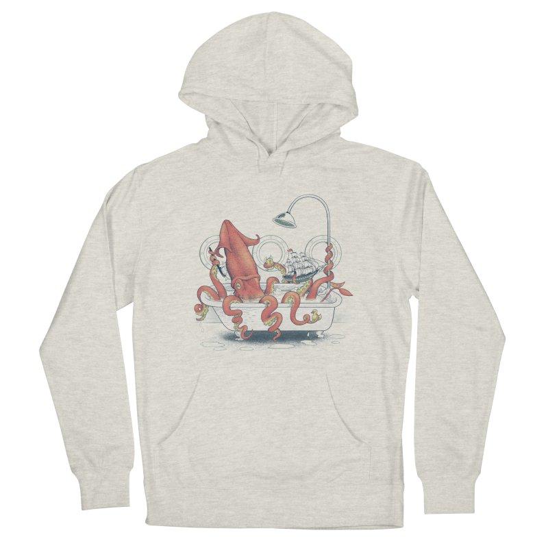 Kraken Bath Time Women's Pullover Hoody by jillustration's Artist Shop
